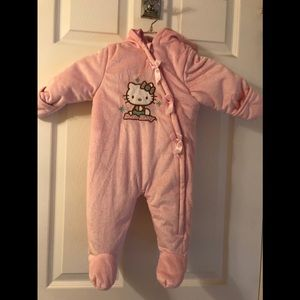 Hello Kitty One Piece Hoodie Outerwear Baby Girl